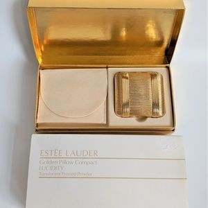 Vintage Estee Lauder Golden Pillow Compact Powder